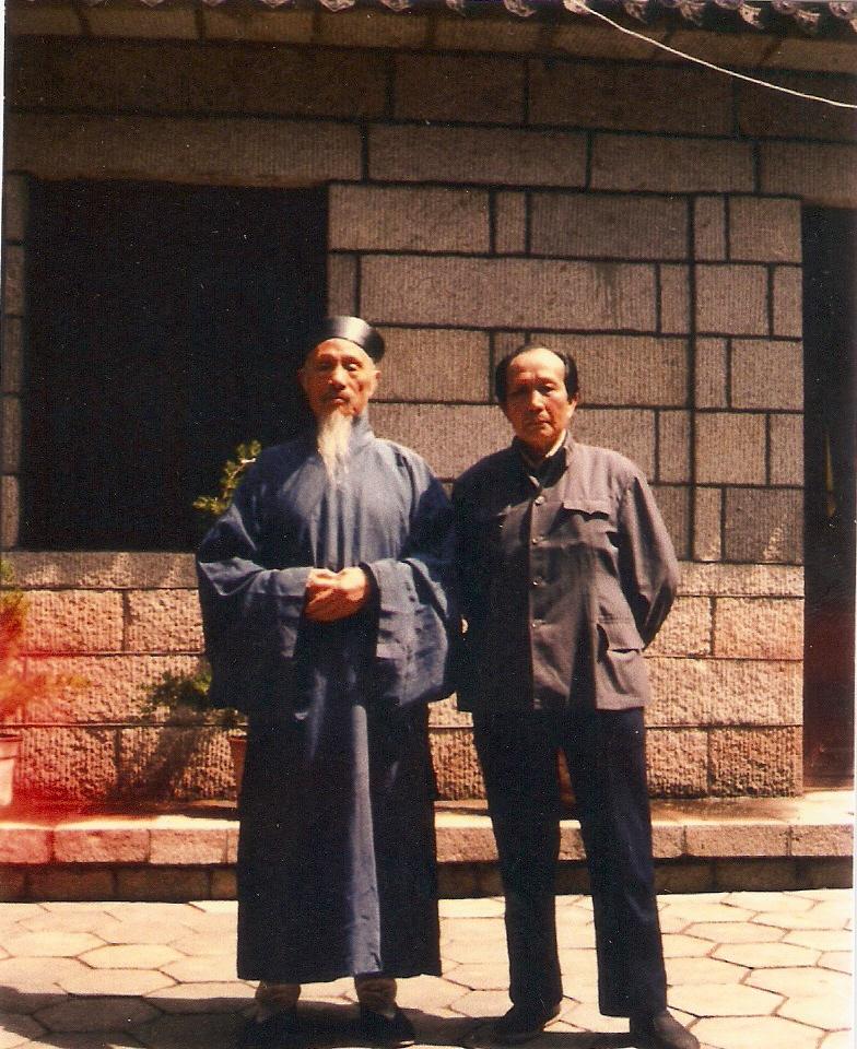 Li Zhan Yuan con l'Abate del tempio Kuang Chuan Xiu