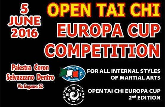 Open Tai Chi Europe CUP II edizione – 5 giugno 2016